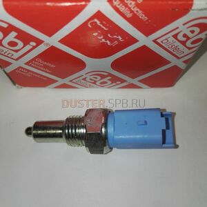 Датчик заднего хода (2 вывода, прямоугольный разъём) Febi (Германия), аналог 8200209496, для Рено Дастер