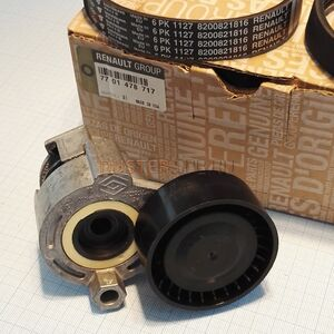 Ремень генератора с роликами 1,6 (без кондиционера) к-т Renault оригинал (Франция), 7701478717, для Рено Дастер