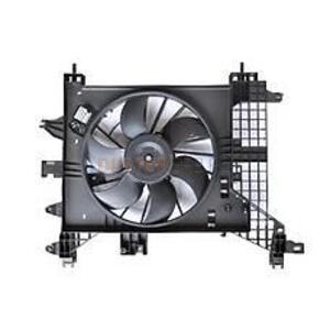 Вентилятор охлаждения радиатора с кондиционером Рено Дастер до 2015г.в. Лузар (Россия), аналог 214816674R, для Рено Дастер