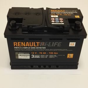 Аккумулятор 70 A\h 720 A(En) (плюс справа) Renault оригинал (Франция), 7711238598, для Рено Дастер