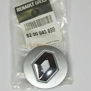 Заглушка легкосплавного диска Renault оригинал (Франция), 8200043899, для Рено Дастер