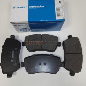 Передние тормозные колодки (1.6 16V) Zekkert (Германия), аналог 410608481R, для Рено Дастер