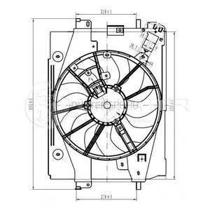 Вентилятор охлаждения радиатора с кондиционером и без в сборе 1.5 dCi; 1.6 H4M цепной; 2.0 (c 2015г.в.) Лузар (Россия), аналог 214814130R, для Рено Дастер