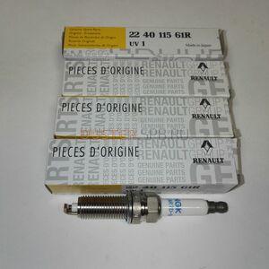 Свечи зажигания 1,6 114 л.с. H4M, комплект Renault оригинал (Франция), 224011561R, для Рено Дастер