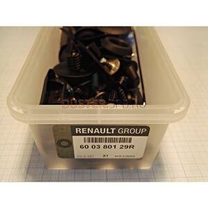 Комплект пистонов переднего бампера  Renault оригинал (Франция), 600380129R, для Рено Дастер