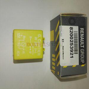 Реле 40А вентилятора, фары (5-ти контактное, желтое) Renault оригинал (Франция), 7700844253, для Рено Дастер