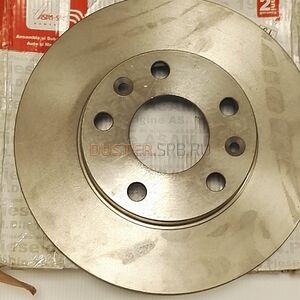 Диск тормозной передний (269 мм), комплект Asam-sa (Румыния), аналог 402066300R, для Рено Дастер